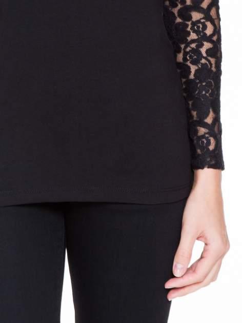 Czarna bluzka z koronkowymi rękawami                                  zdj.                                  6