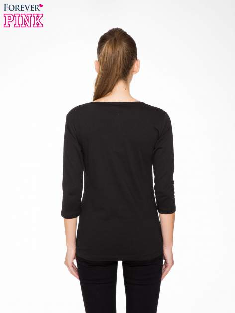 Czarna bluzka z nadrukiem kotów                                  zdj.                                  4