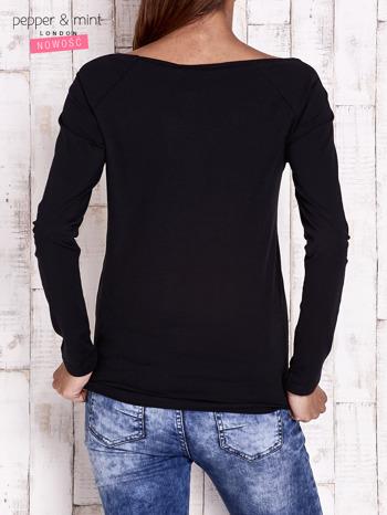 Czarna bluzka z napisem PERFECT                                  zdj.                                  4