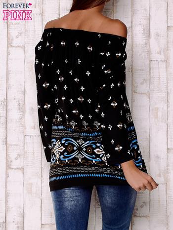 Czarna bluzka z ornamentowymi motywami                                  zdj.                                  4