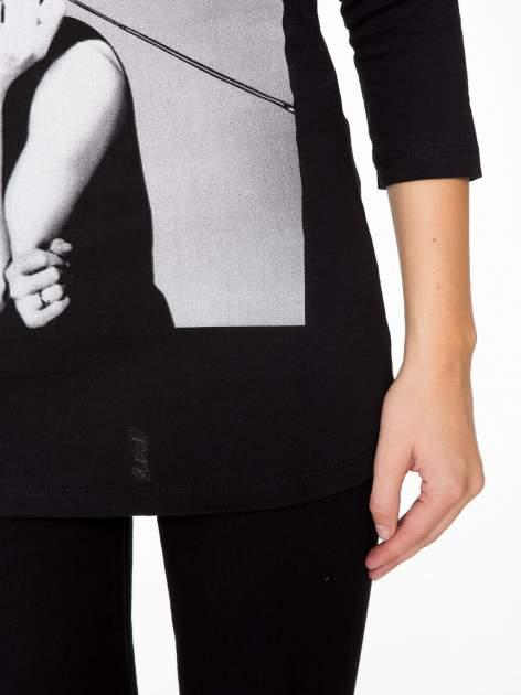 Czarna bluzka z portretem Audrey Hepburn                                  zdj.                                  8