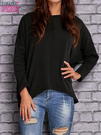 Czarna bluzka z rękawem nietoperz                                  zdj.                                  1