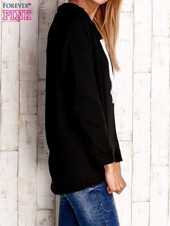 Czarna bluzka z troczkami                                  zdj.                                  3