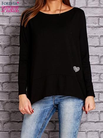 Czarna bluzka z wiązaniem na plecach                                  zdj.                                  1