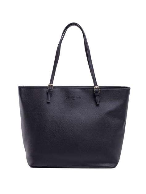 Czarna damska torebka shopper