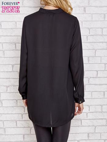 Czarna długa koszula z nadrukiem tygrysa                                  zdj.                                  2