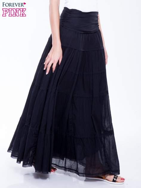 Czarna długa spódnica maxi w stylu boho                                  zdj.                                  5