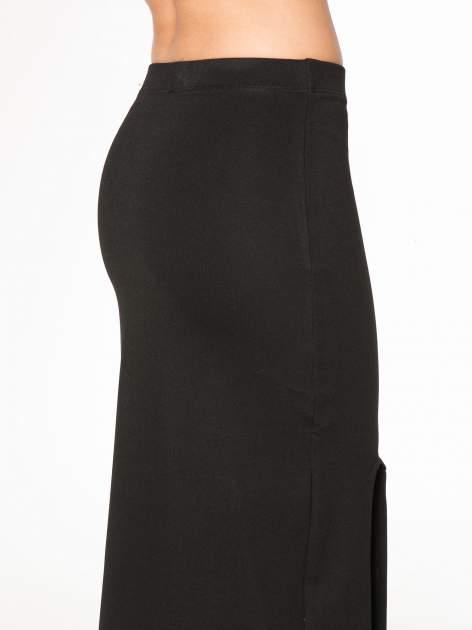 Czarna długa spódnica z rozporkami z przodu                                  zdj.                                  8