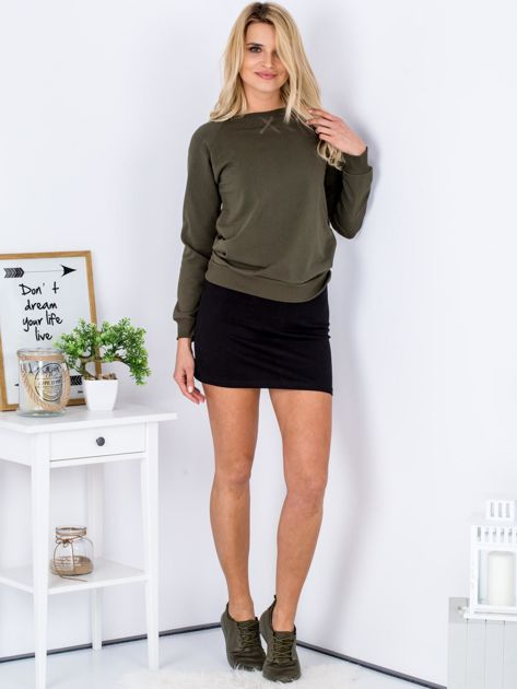 Czarna dresowa spódnica mini                              zdj.                              4