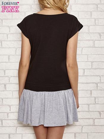 Czarna dresowa sukienka tenisowa z kieszonką                                  zdj.                                  4