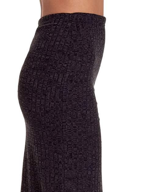 Czarna dzianinowa spódnica za kolano                                  zdj.                                  6