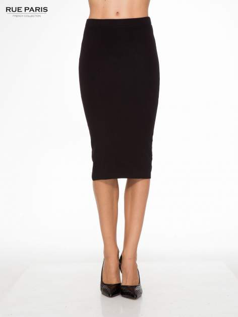 Czarna elegancka spódnica ołówkowa do kolan
