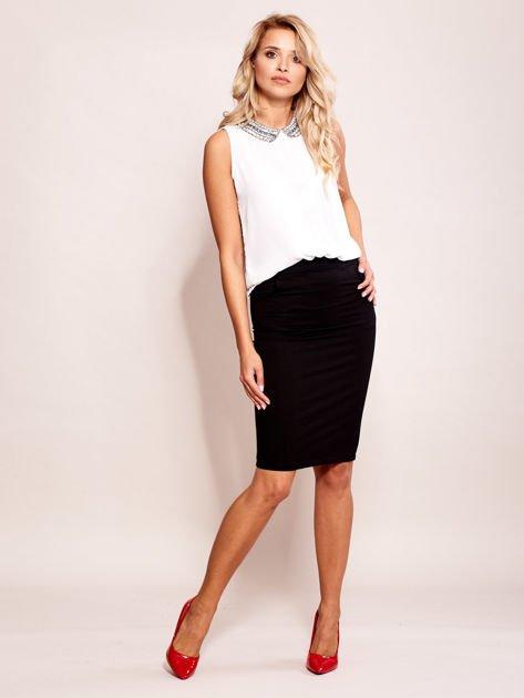 Czarna elegancka spódnica ołówkowa z kieszeniami                              zdj.                              4
