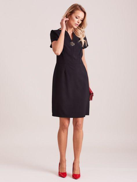 Czarna elegancka sukienka                               zdj.                              4