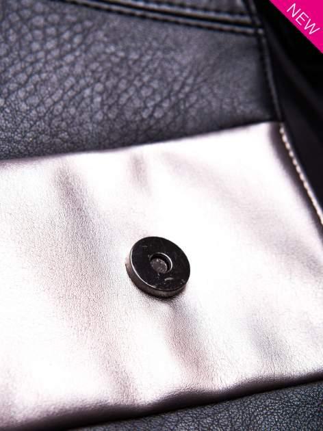 Czarna geometryczna torebka w stylu glamour                                  zdj.                                  5