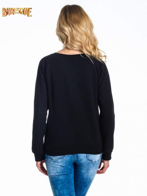 Czarna klasyczna bluza damska z napisem NICE TO MEET YOU