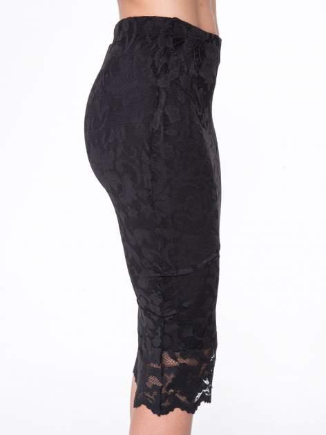 Czarna koronkowa spódnica typu tuba za  kolano                                  zdj.                                  8