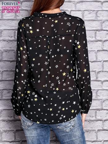 Czarna koszula w gwiazdki                                  zdj.                                  2