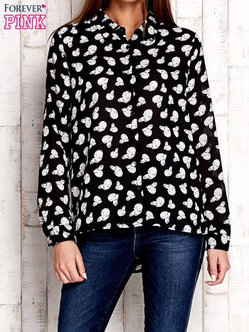 Czarna koszula w pandy                              zdj.                              1