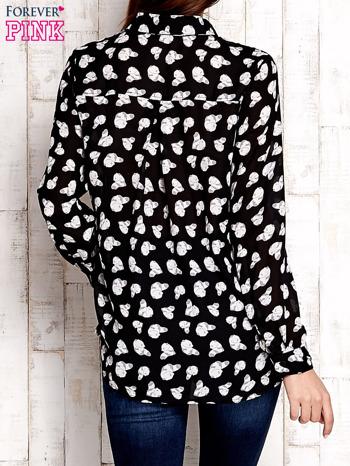 Czarna koszula w pandy                                  zdj.                                  2