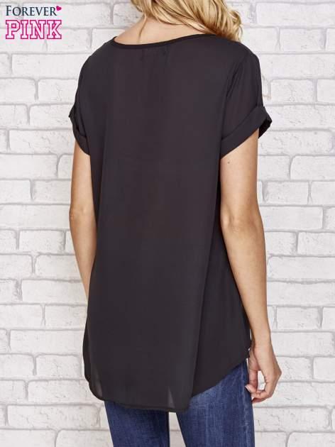 Czarna koszula z motywem kwiatów                                  zdj.                                  5