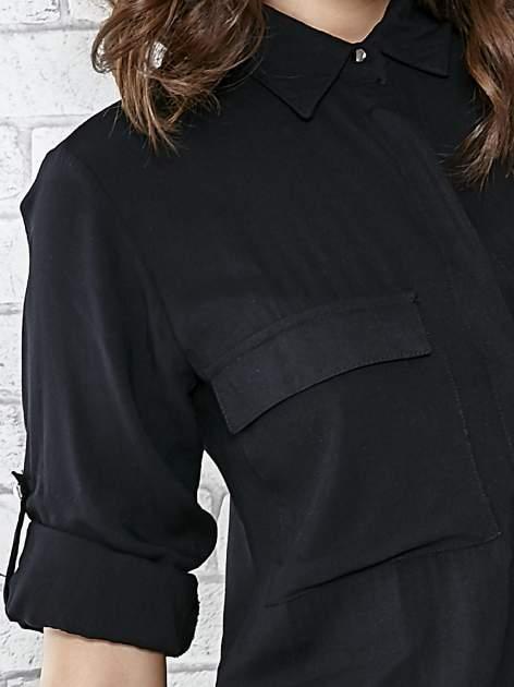 Czarna koszulotunika z kieszonkami                                  zdj.                                  5