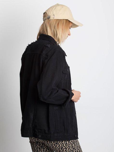 Czarna kurtka jeansowa Pairing                              zdj.                              2