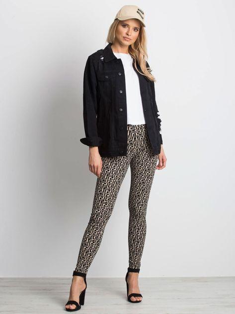 Czarna kurtka jeansowa Pairing                              zdj.                              4