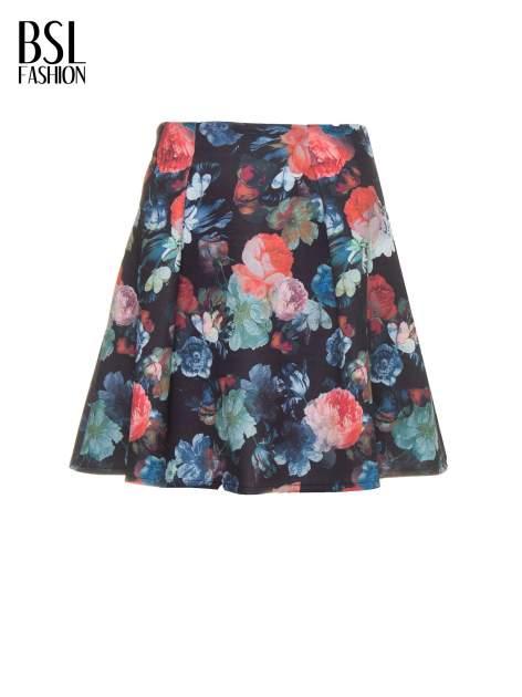 Czarna kwiatowa mini spódnica skater                                  zdj.                                  6