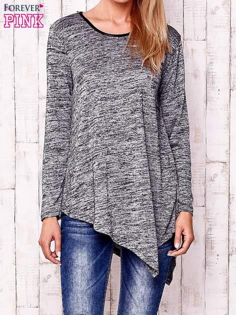 Czarna melanżowa asymetryczna bluzka