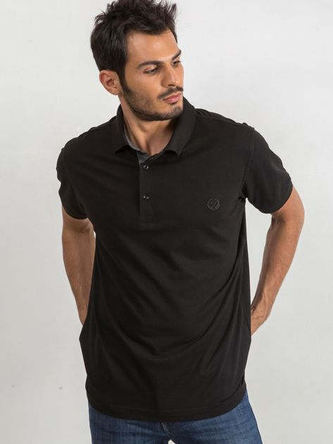 Czarna męska koszulka polo Reverse