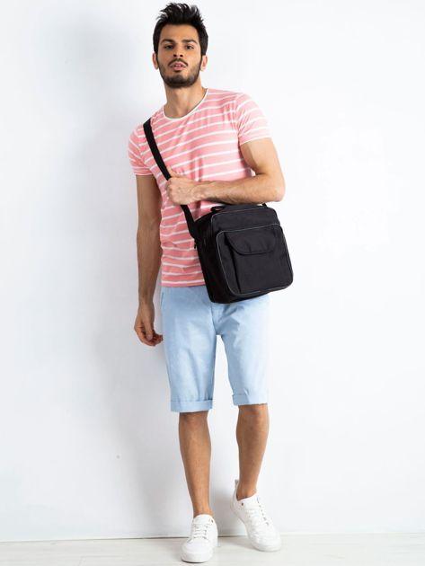 Czarna męska torba z kieszenią                              zdj.                              4