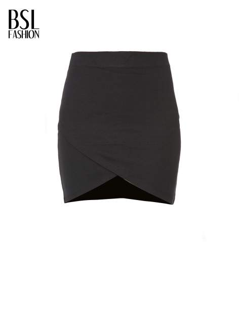 Czarna mini spódnica kopertowa                                  zdj.                                  5