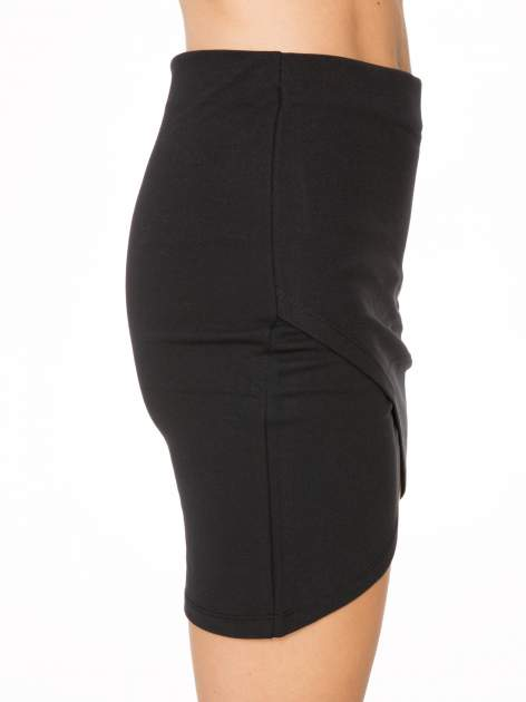 Czarna mini spódnica kopertowa                                  zdj.                                  7