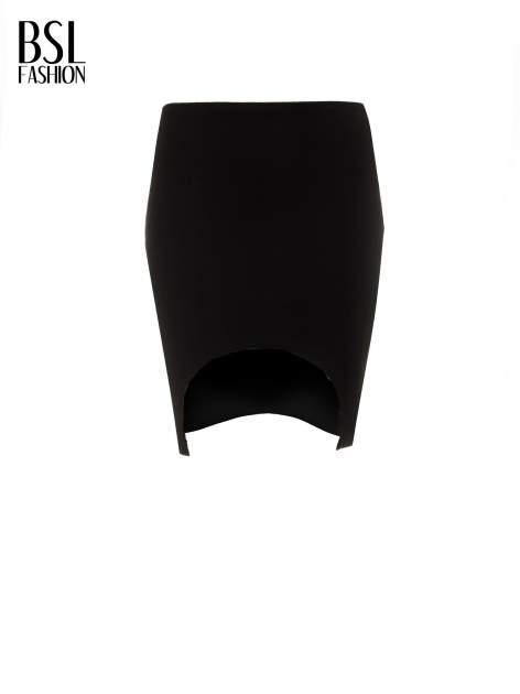 Czarna mini spódnica z wycięciem z przodu                                  zdj.                                  5