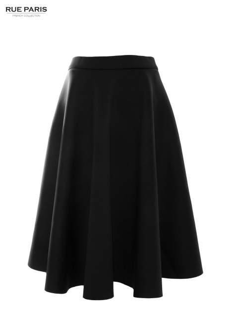 Czarna neoprenowa spódnica midi szyta z koła                                  zdj.                                  2