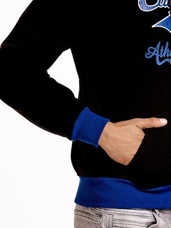 Czarna ocieplana bluza męska z napisem CALIFORNIA i kapturem                                  zdj.                                  7