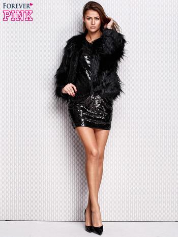 Czarna ołówkowa sukienka z cekinami                                  zdj.                                  5