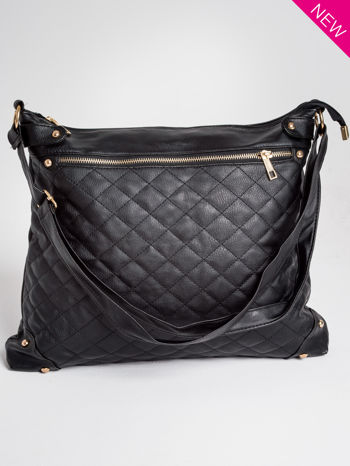 Czarna pikowana torebka na ramię                                  zdj.                                  1