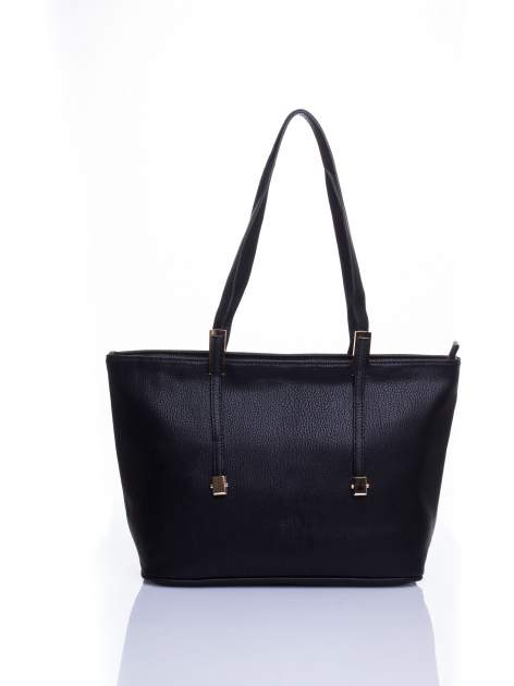 Czarna prosta torba shopper bag