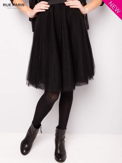 Czarna rozkloszowana tiulowa spódnica                                  zdj.                                  2