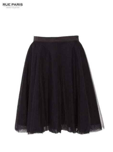 Czarna rozkloszowana tiulowa spódnica                                  zdj.                                  1
