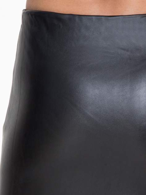 Czarna skórzana spódnica midi                                  zdj.                                  6