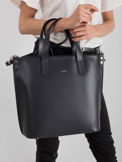 Czarna skórzana torba damska