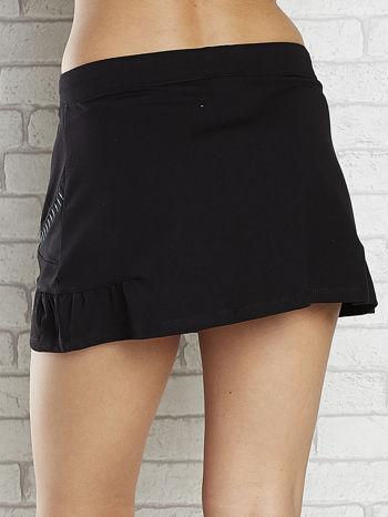 Czarna spódnica dresowa z falbanką i troczkiem                                  zdj.                                  6