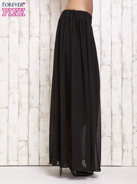 Czarna spódnica maxi na gumkę w pasie                                  zdj.                                  2