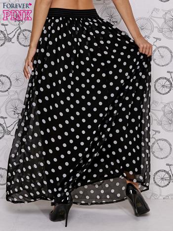 Czarna spódnica maxi w białe grochy                                  zdj.                                  5