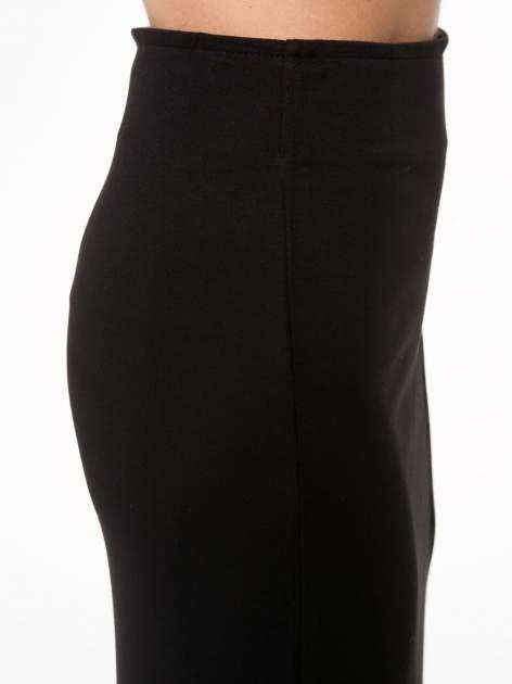 Czarna spódnica maxi z asymetrycznym zamkiem                                  zdj.                                  9