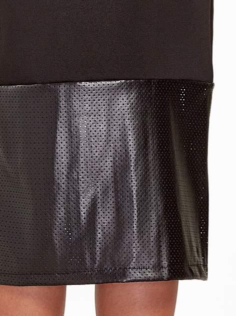 Czarna spódnica midi z siatkowym modułem                                  zdj.                                  6