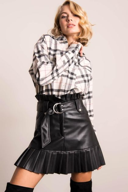 Czarna spódnica mini BSL